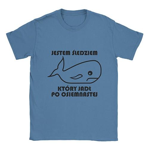 """""""Jestem Śledziem Który..."""" męski t-shirt"""
