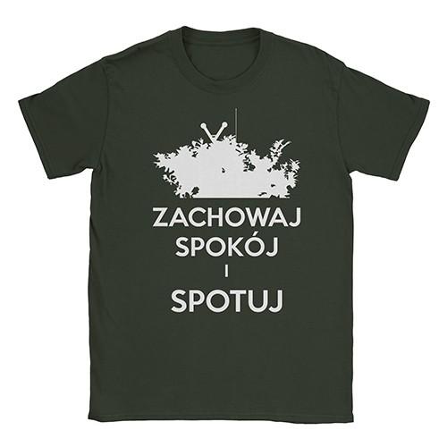 """""""Zachowaj Spokój i Spotuj"""" męski t-shirt"""