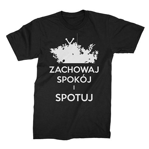 """""""Zachowaj Spokój i Spotuj"""" męski t-shirt slim"""
